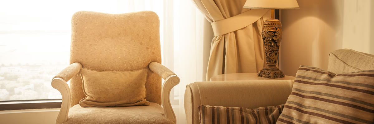Curtains and upholstery dry cleaned in situ