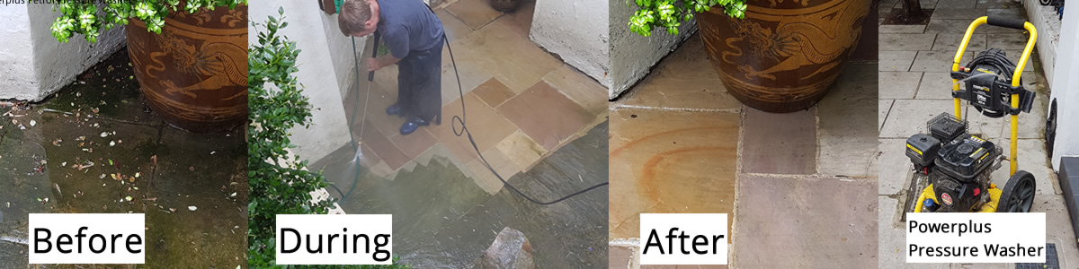 The Results of Pressure Washing with Twice the Power